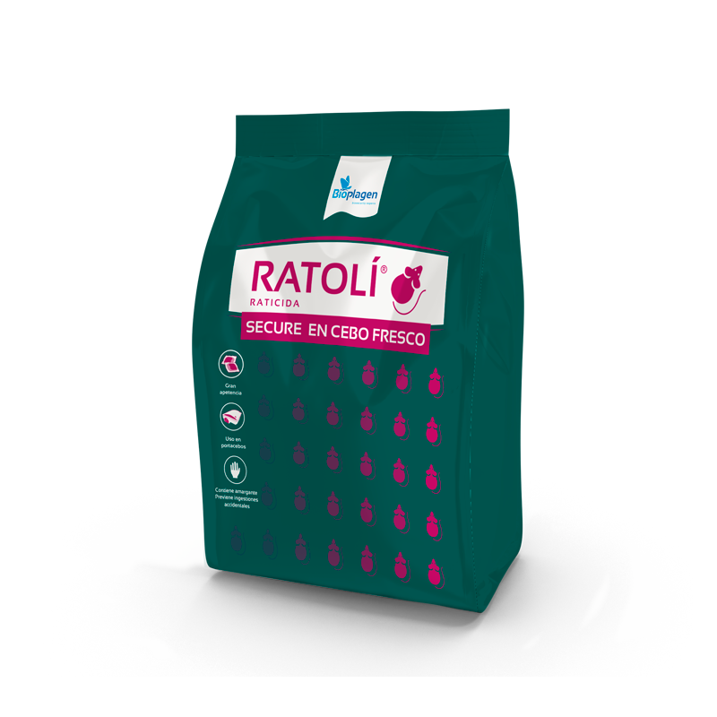 RATOLI - Raticida en Cebo fresco - 1 kg